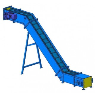 Drag chain conveyer with high paddles - фото - 1