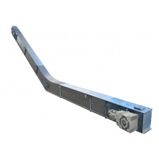 Drag chain conveyer with high paddles - фото - 2